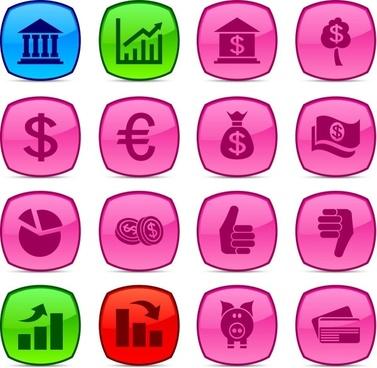 fine business icon vector