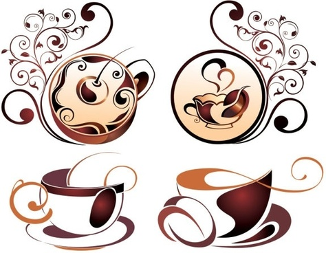 fine coffee element 04 vector