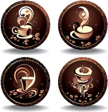 fine coffee element 05 vector