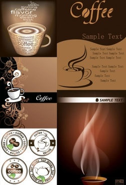 Fine coffee elements vector