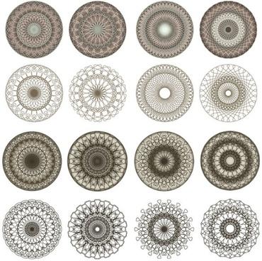 fine coil pattern vector