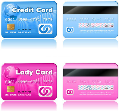 fine credit card vector