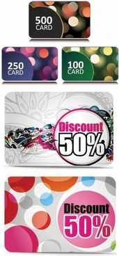 fine discount card vector