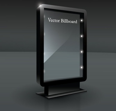 fine glass advertising boxes 01 vector