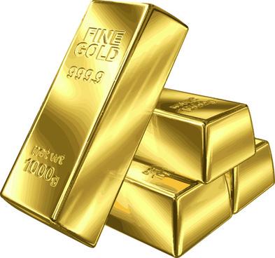 fine gold bullion design vector set