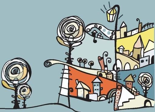 fine illustrator of children 02 vector