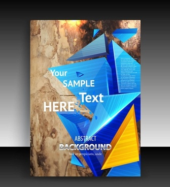fine leaflets cover background 02 vector
