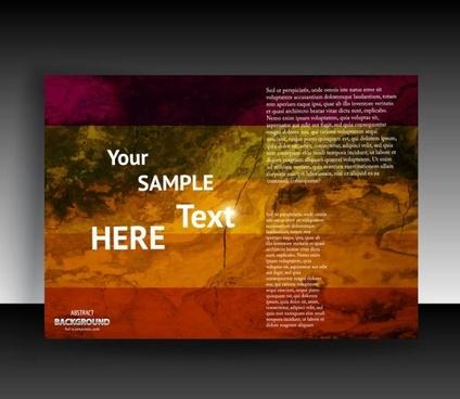 fine leaflets cover background 03 vector