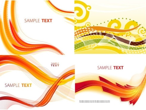 fine linear patterns vector 2