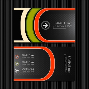 fine lines background vector business card templates