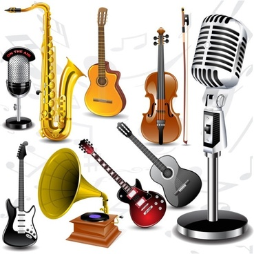 fine musical instruments vector