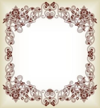 fine pattern border 01 vector