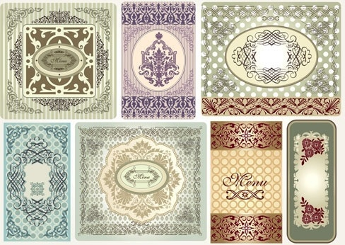 fine pattern border pattern 01 vector