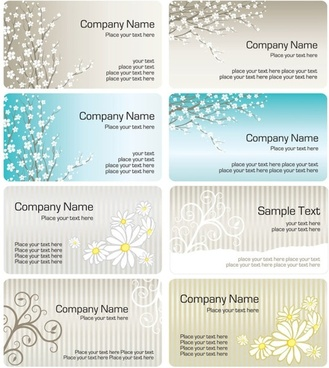 fine pattern business card template 01 vector