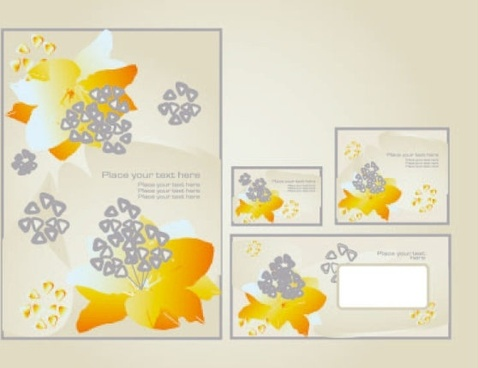 fine pattern business card template 03 vector