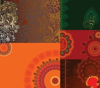 fine pattern floral background vectors