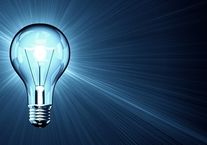 fine picture of a blue light bulb 2