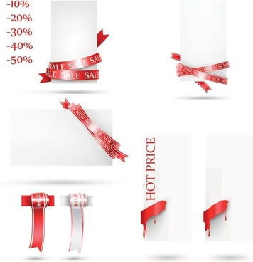 fine red line vector