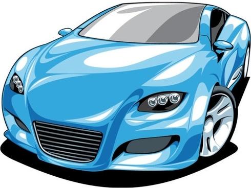fine sports car 01 vector