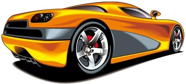 fine sports car 04 vector