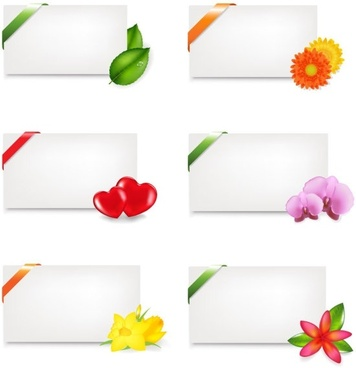 fine stationery and flowers vector