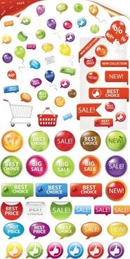fine supermarket labels vector