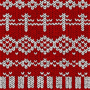 woolen pattern classical red white decor