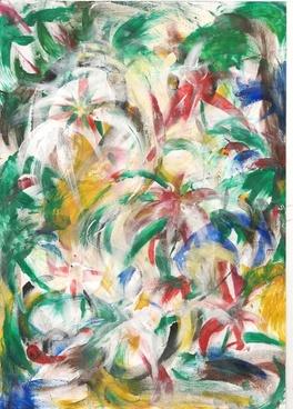 finger art colourful