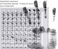 fingerprint brushes