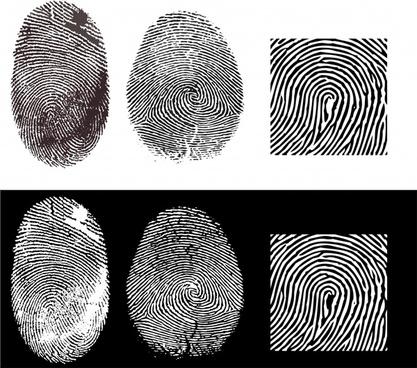 fingerprint templates black white sketch realistic design
