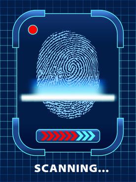 fingerprint scanning design vector