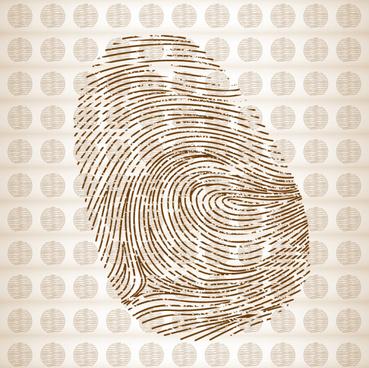 fingerprint with pattern vector graphics