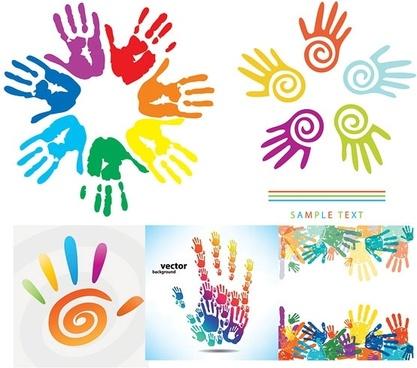 fingerprints theme vector
