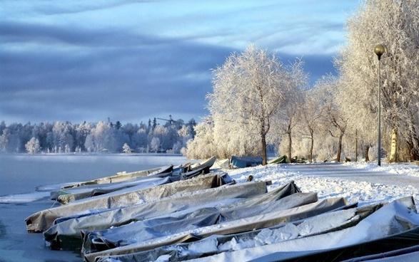 finland boats landscape
