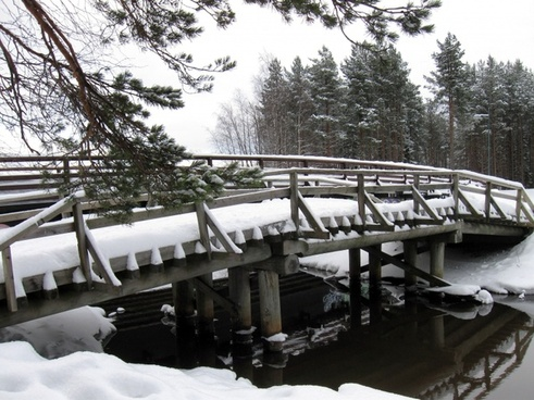 finland bridge stream