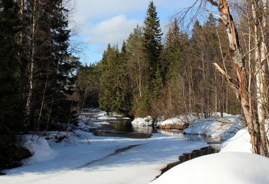 finland landscape winter