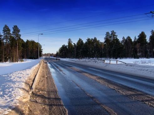 finland road landscape