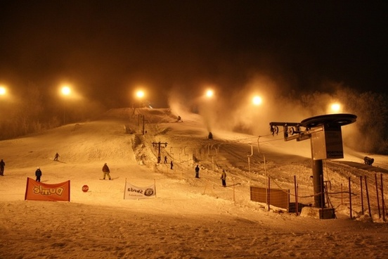 finland ski slope winter