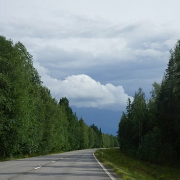 finland summer the road