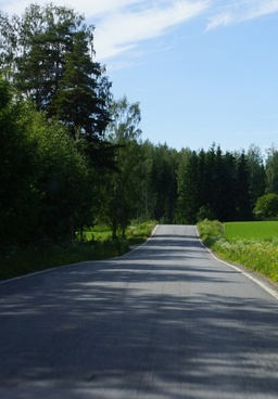 finland the road in the shadows
