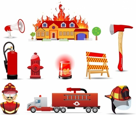 Fire and safety icons