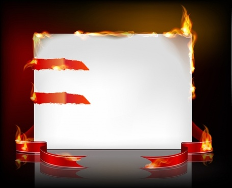 fire burning paper vector effect