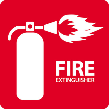 fire extinguisher logo vector