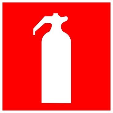 Fire Extinguisher Sign clip art