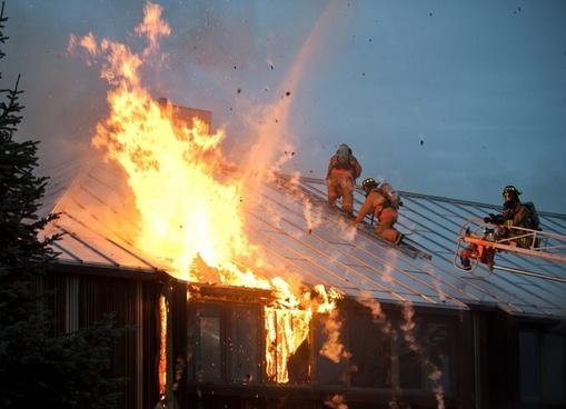 fire flames building