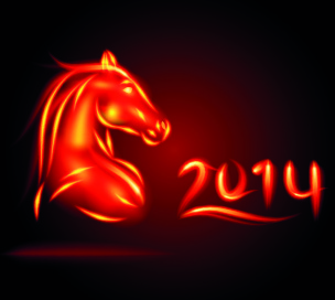 fire horse14 design vector