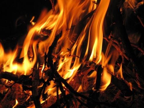 fire night glow