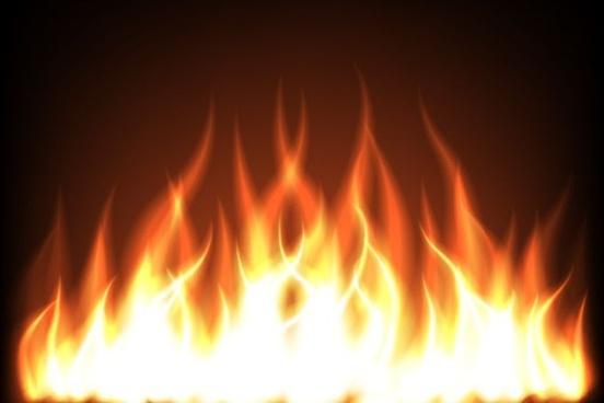 burning flame background sparkling vivid red design