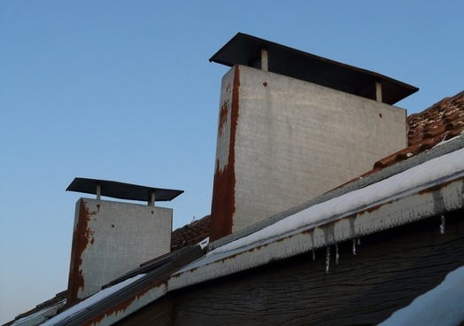 fireplace roof chimney