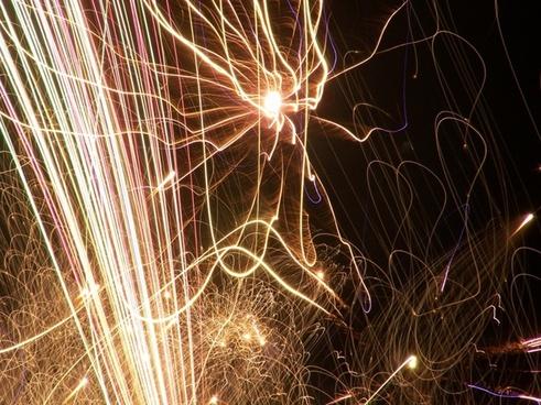 firework night light